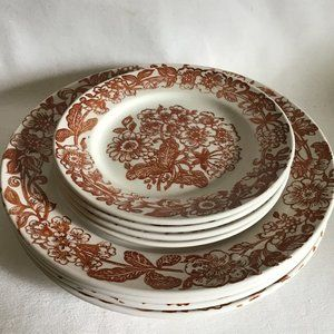 Broadhurst Richmond  Set of 8 Plates VTG 70's